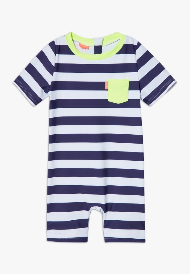 STRIPE SUNSUIT - Uimapuku - navy