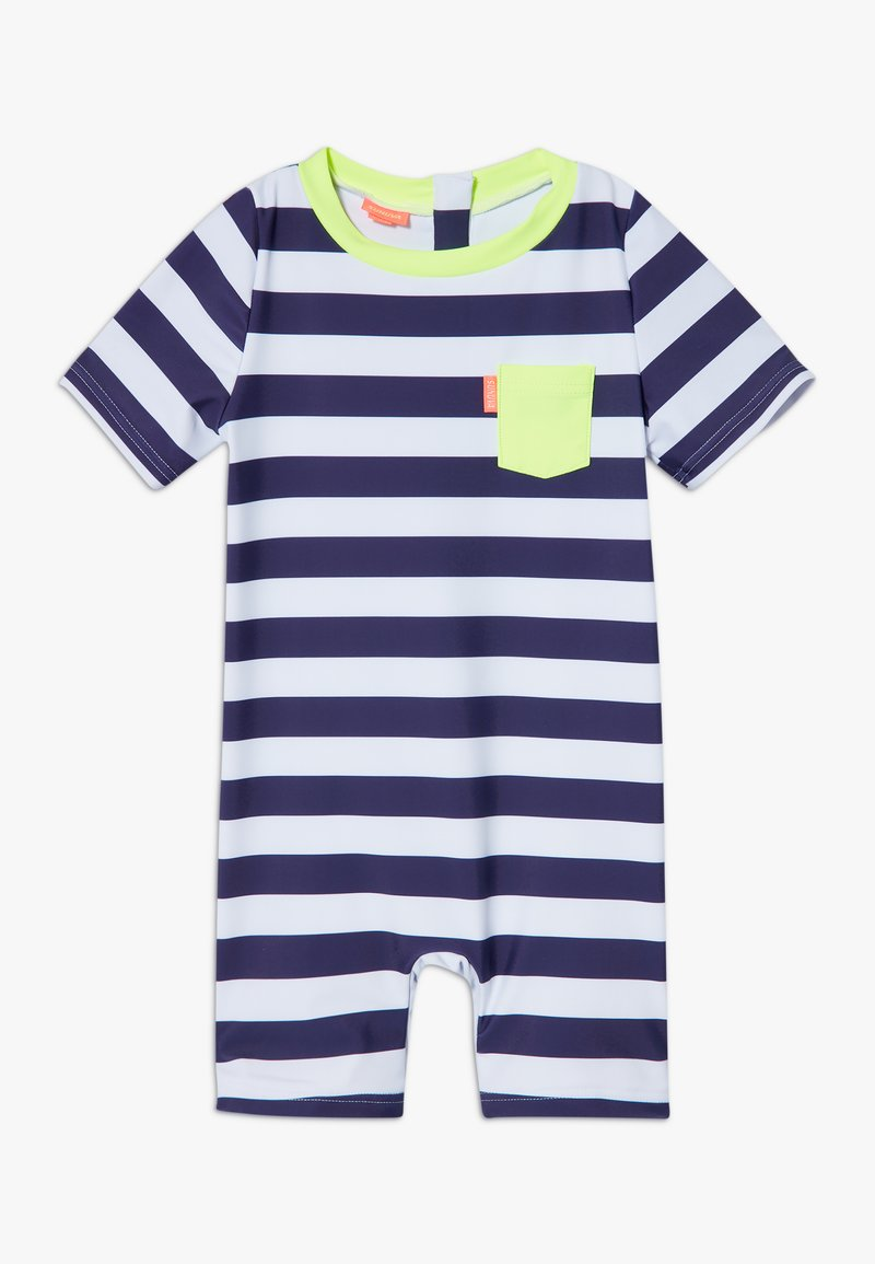 Sunuva - STRIPE SUNSUIT - Badeanzug - navy