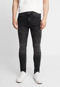 Supply & Demand - ANARCHY  - Skinny džíny - black fade - 0