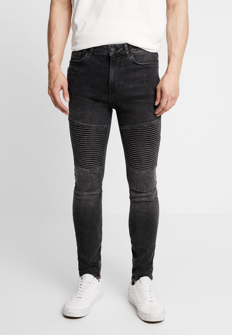 Supply & Demand - ANARCHY  - Skinny džíny - black fade