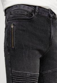 Supply & Demand - ANARCHY  - Skinny džíny - black fade - 5