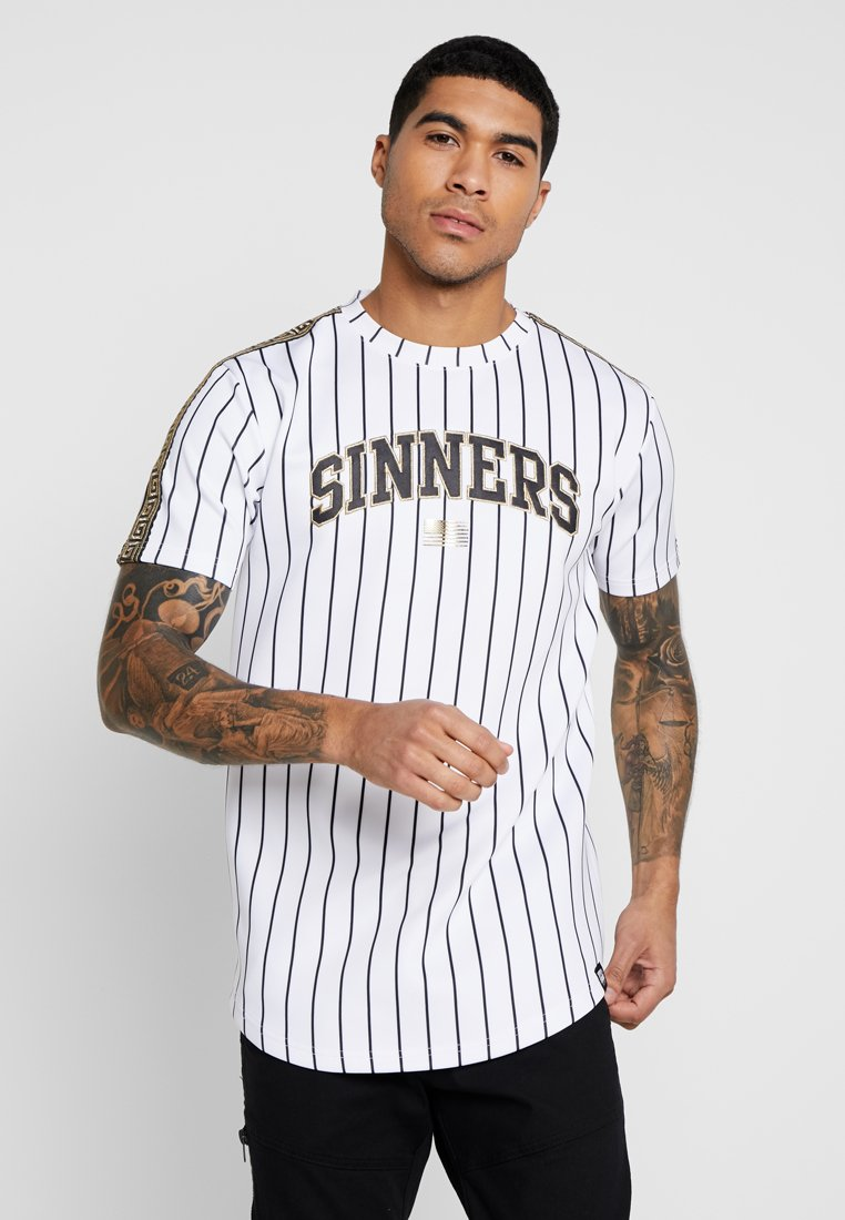 Supply & Demand - SINNERS GEO PIN TEE - T-Shirt print - white