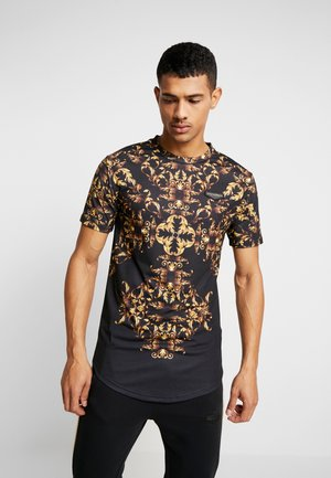 IRIS  - Camiseta estampada - black/gold