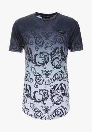 DÉCOR - T-shirt imprimé - black/white fade