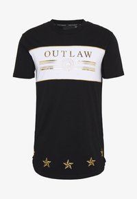 Supply & Demand - POWER CURVE HEM WITH CHEST  - T-shirt z nadrukiem - black/gold - 4