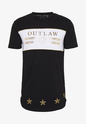 POWER CURVE HEM WITH CHEST  - Triko s potiskem - black/gold