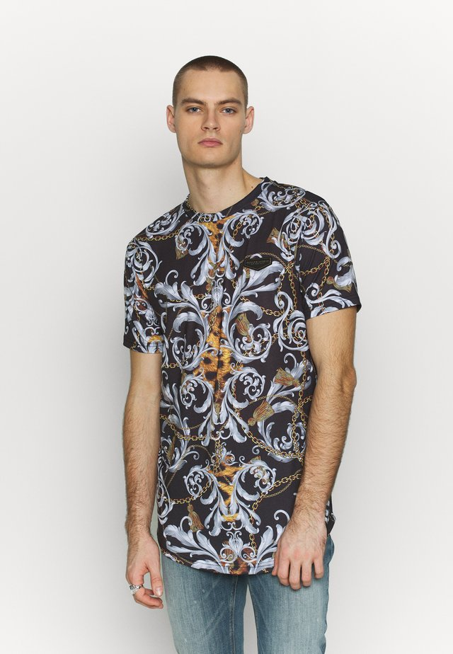JUNGLE IN BAROQUE - T-shirt imprimé - black/gold