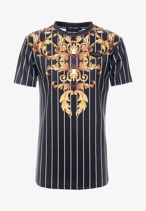CADENCE - T-shirt imprimé - black/gold