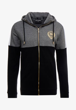 FORTUNE HOOD - Cardigan - grey