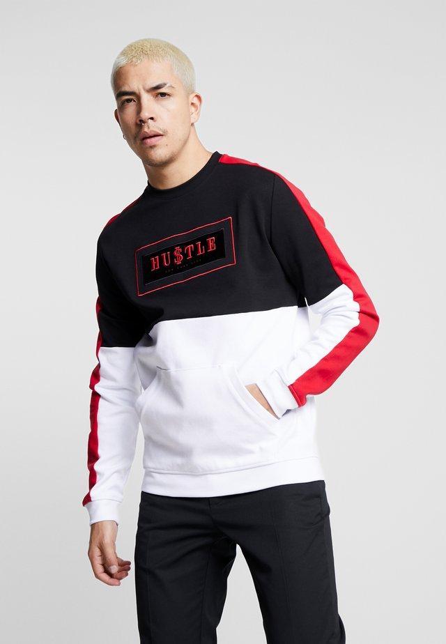 SECTOR CREW - Maglietta a manica lunga - black/red/white