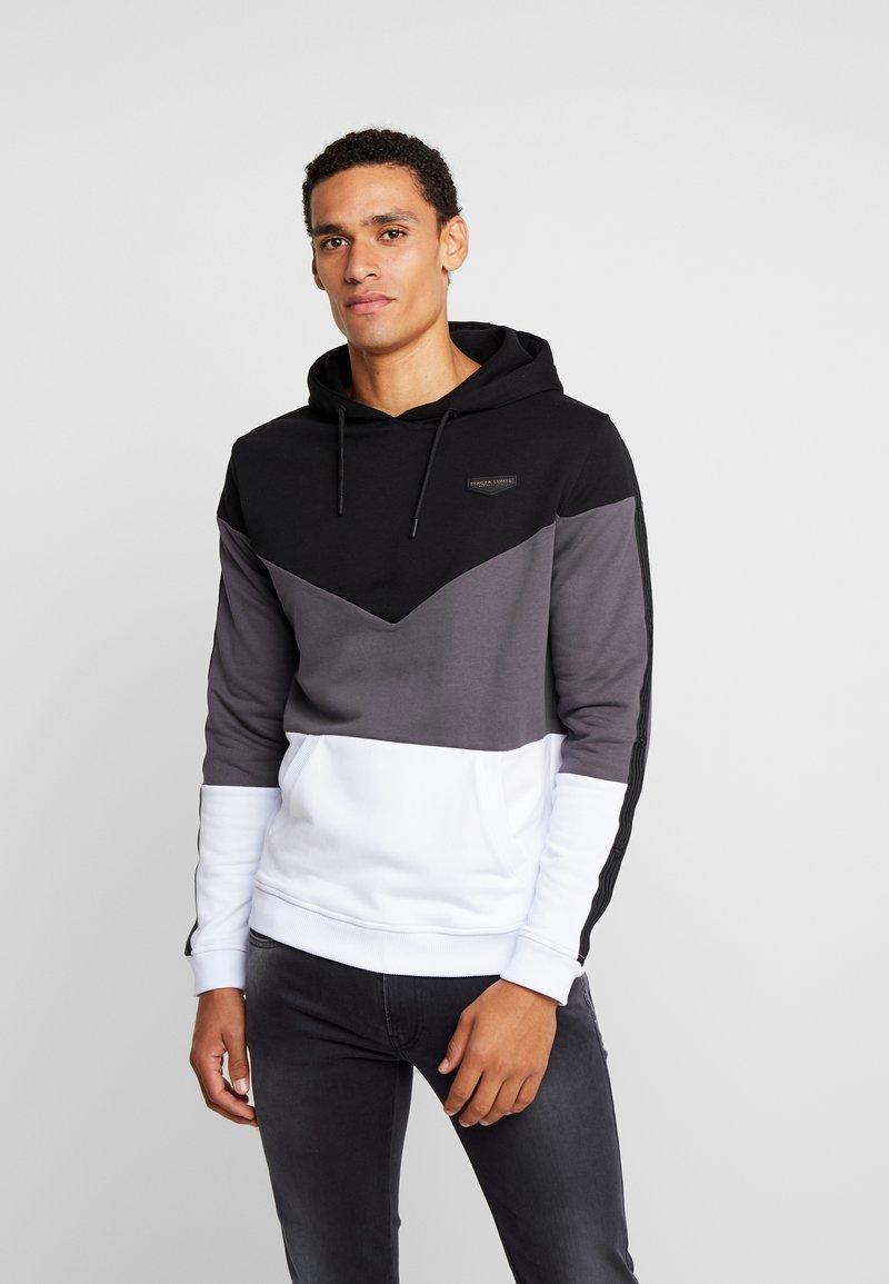 Supply & Demand - ANGLE HOOD - Sweatshirts - white/black