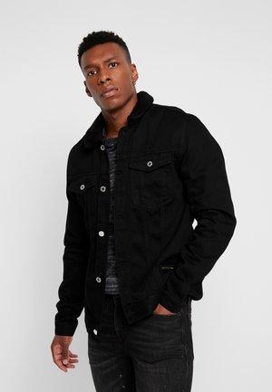 EFFECT COLLAR - Kurtka jeansowa - black