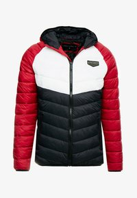 Supply & Demand - EXPLORE COLOUR BLOCK PADDED JACKET - Overgangsjakker - red/white/black - 3