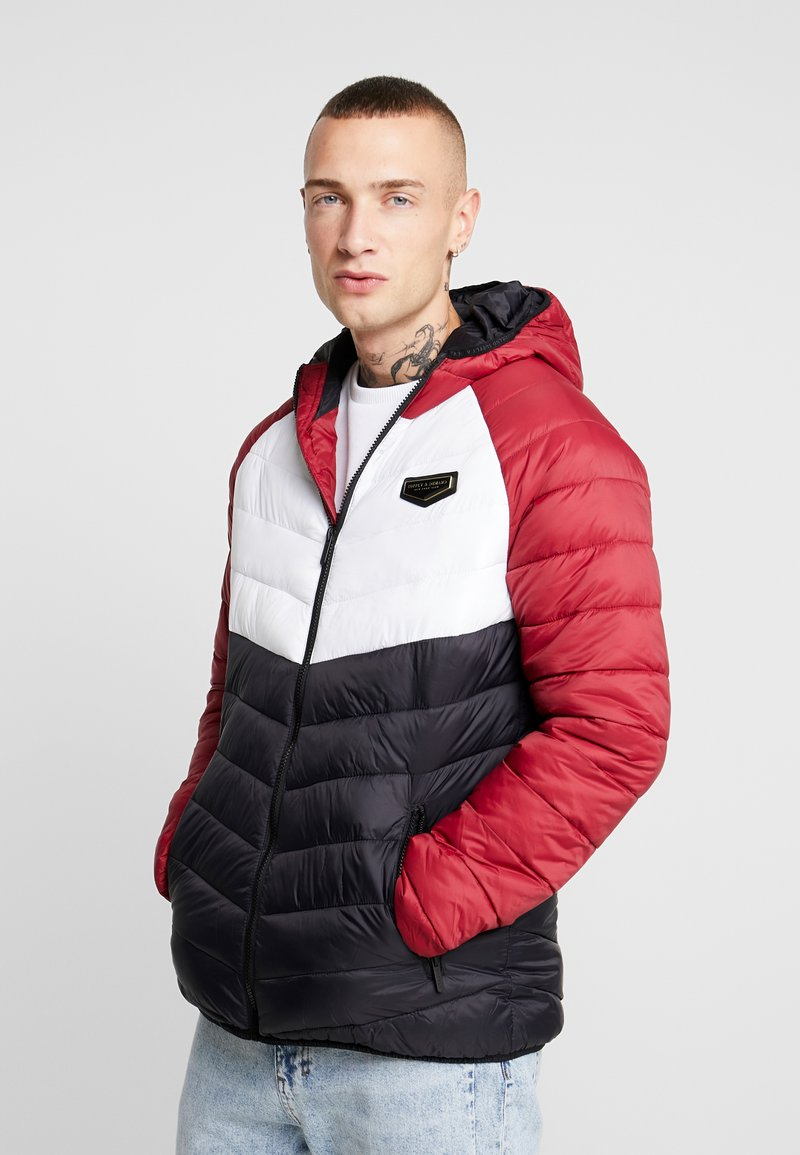 Supply & Demand - EXPLORE COLOUR BLOCK PADDED JACKET - Overgangsjakker - red/white/black