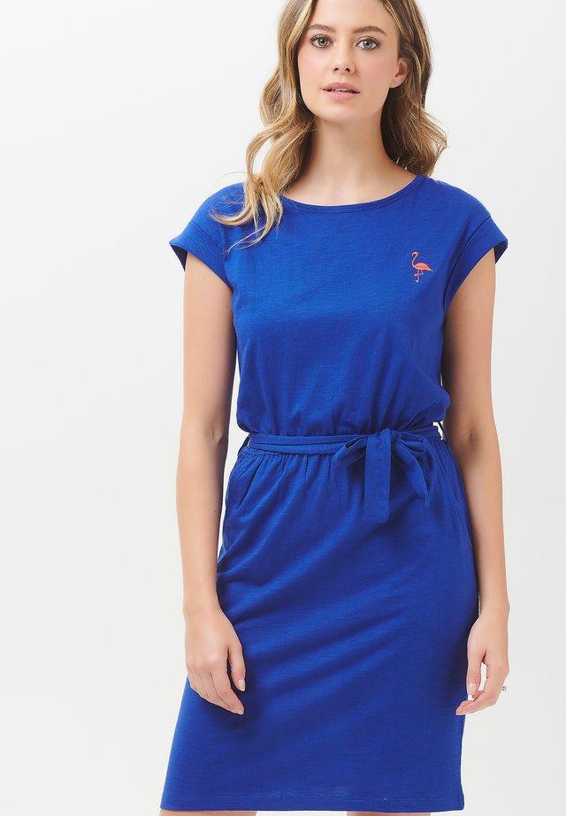 KATE FLAMINGO - Korte jurk - blue
