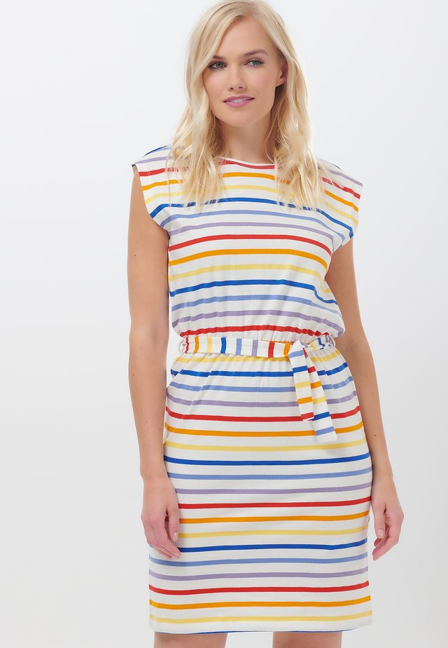 HETTY SUNSET STRIPE - Jersey dress - white