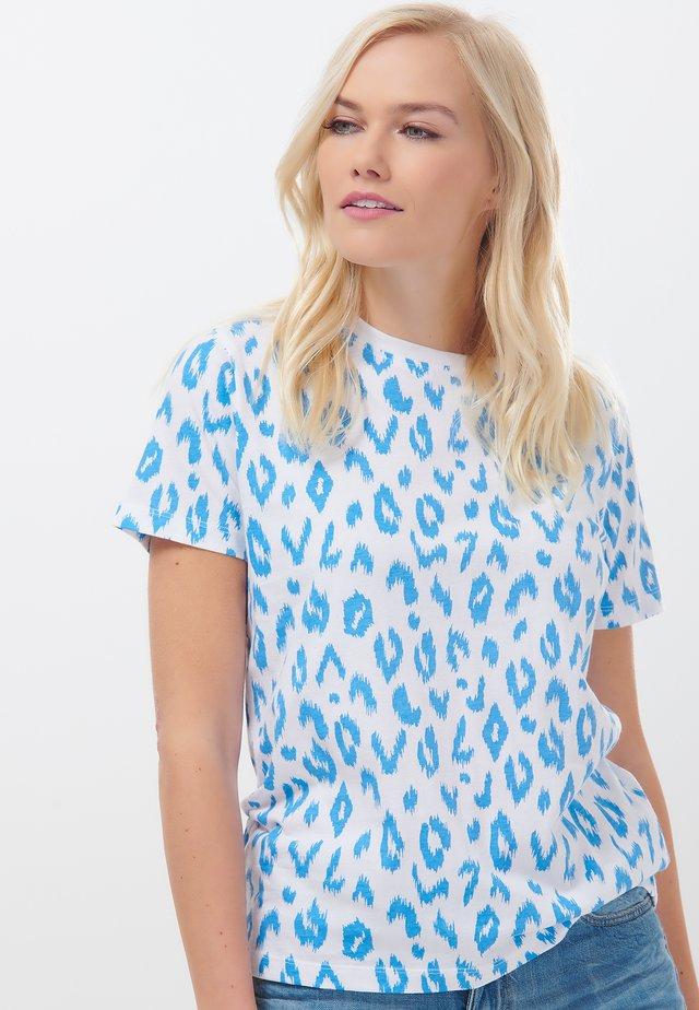 MAGGIE IKAT LEOPARD - T-shirt print - white
