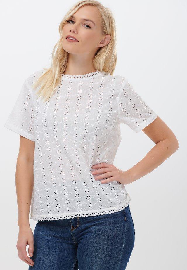NADINE BRODERIE - Blouse - white