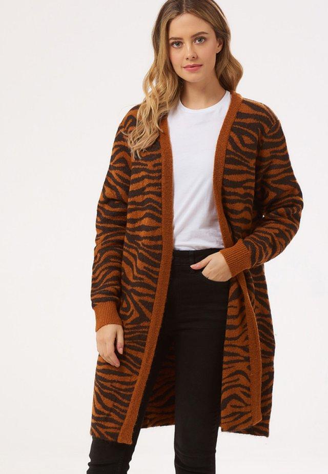 TRINNY BIG CAT TIGER - Kofta - rust/black