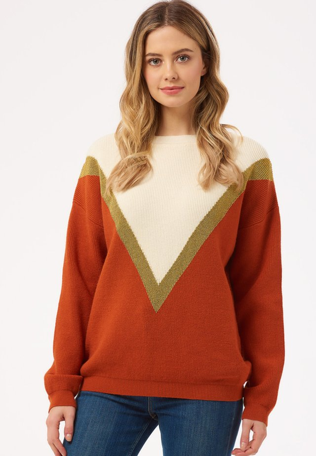 ROXY LUREX CHEVRON - Stickad tröja - off-white