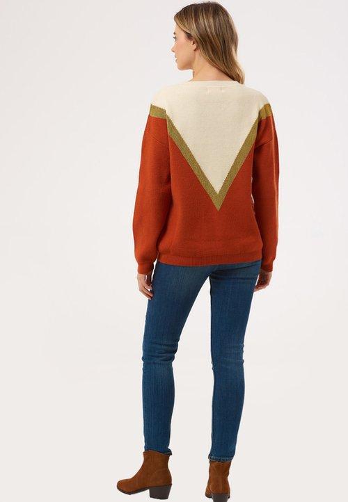 Sugarhill Brighton Sweter - off-white Odzież Damska UKSZ-GY8 dobrze rozwinięty