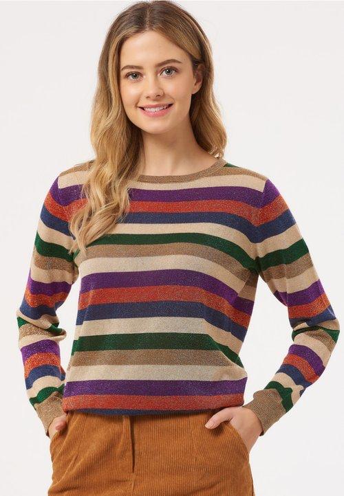 Sugarhill Brighton ALEX ROAD TRIPPER LUREX STRIPE - Bluza - multi-coloured Odzież Damska CUYQ-UK5 piękny