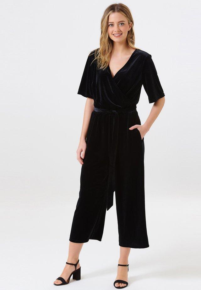 NEME VELVET WRAP - Overall / Jumpsuit - black