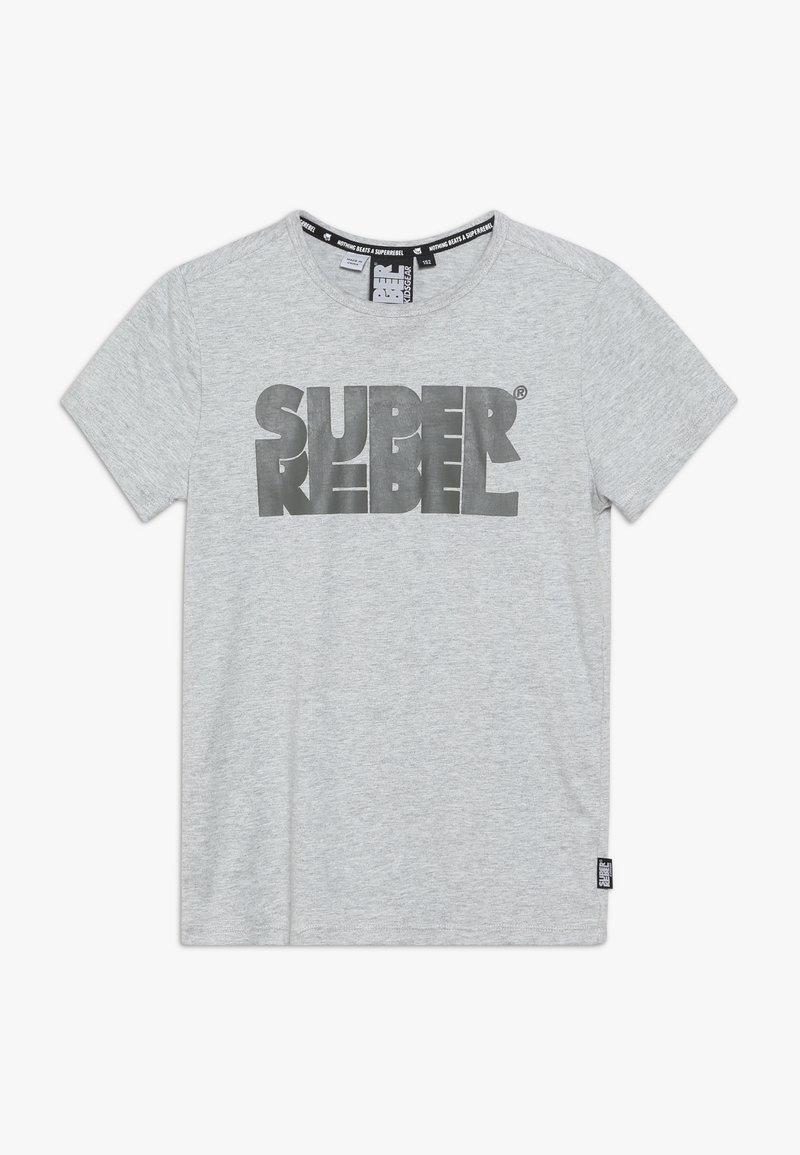 SuperRebel - BOYS - T-shirt med print - grey melee