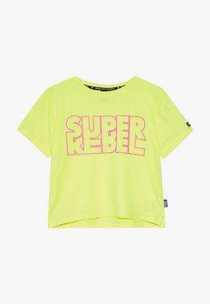 GIRLS ACTIVE - Print T-shirt - neon yellow