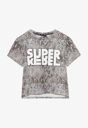 GIRLS ACTIVE - T-shirt con stampa - natural snake