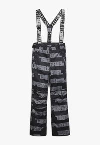 SuperRebel - SKI PANT ALL OVER - Täckbyxor - black - 0
