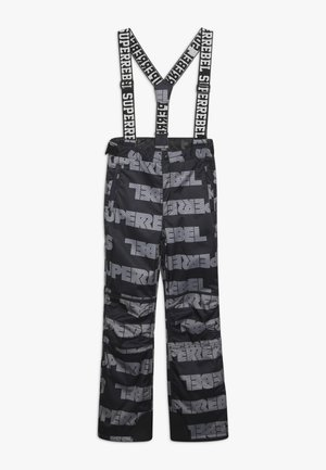 SKI PANT ALL OVER - Ski- & snowboardbukser - black