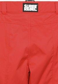 SuperRebel - SKI PANT PLAIN - Zimní kalhoty - neon red - 5