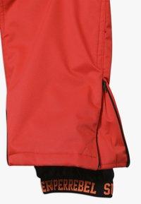 SuperRebel - SKI PANT PLAIN - Zimní kalhoty - neon red - 3