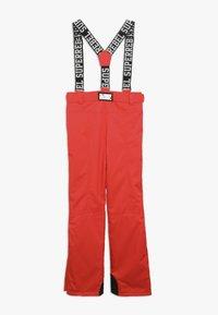 SuperRebel - SKI PANT PLAIN - Zimní kalhoty - neon red - 1