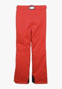 SuperRebel - SKI PANT PLAIN - Zimní kalhoty - neon red - 2