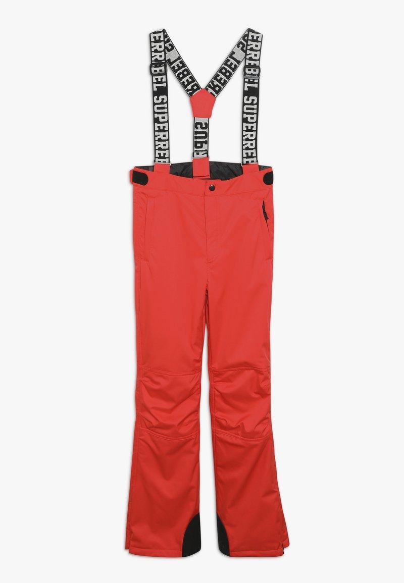 SuperRebel - SKI PANT PLAIN - Skibroek - neon red