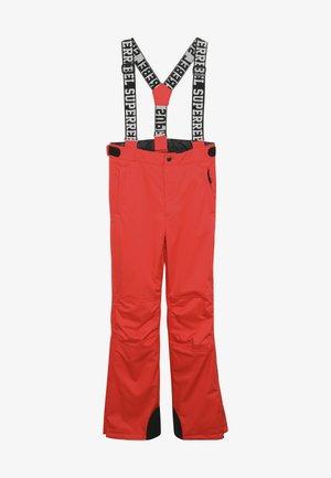SKI PANT PLAIN - Snow pants - neon red