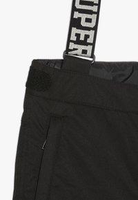 SuperRebel - SKI PANT PLAIN - Pantalon de ski - black - 4