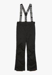 SuperRebel - SKI PANT PLAIN - Pantalon de ski - black - 0