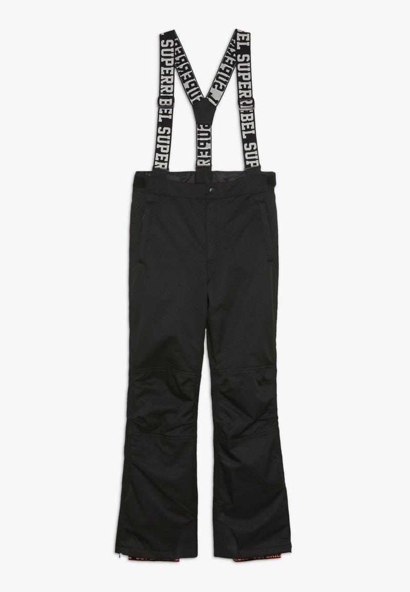 SuperRebel - SKI PANT PLAIN - Pantalon de ski - black