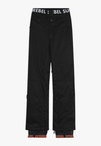 SuperRebel - SKI SNOWBOARD PANT PLAIN - Snow pants - black - 0