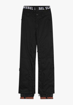 SKI SNOWBOARD PANT PLAIN - Talvihousut - black
