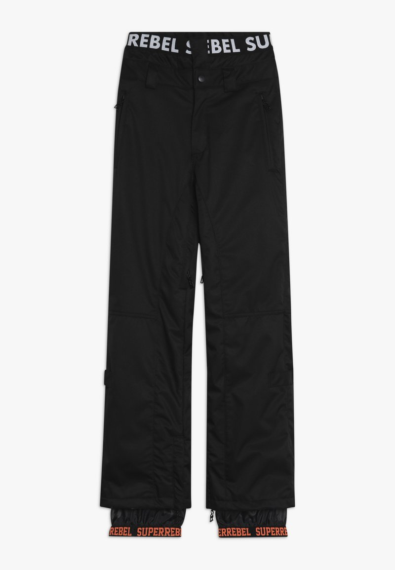 SuperRebel - SKI SNOWBOARD PANT PLAIN - Snow pants - black