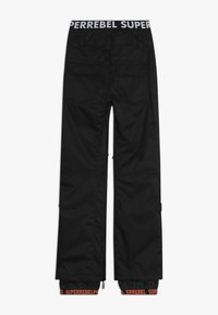 SuperRebel - SKI SNOWBOARD PANT PLAIN - Snow pants - black - 1
