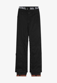 SuperRebel - SKI SNOWBOARD PANT PLAIN - Snow pants - black - 3