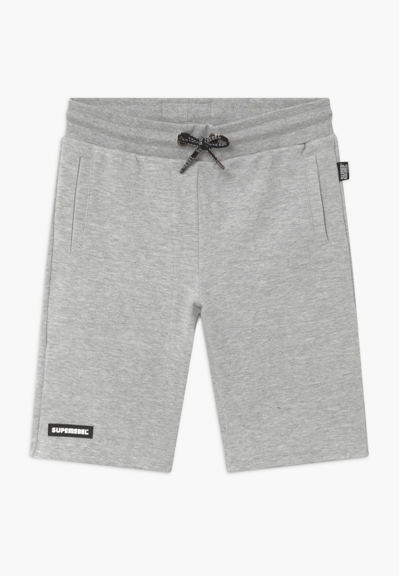 SuperRebel - ACTIVE HEAVY INTERLOCK ALL-OVER - Short de sport - grey