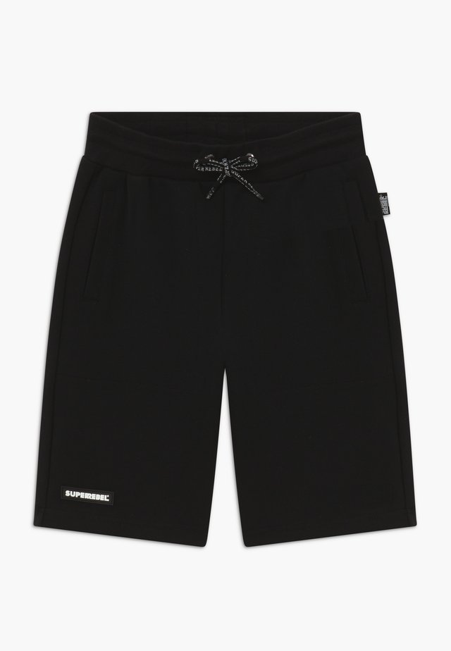 ACTIVE HEAVY INTERLOCK ALL-OVER - Sports shorts - black