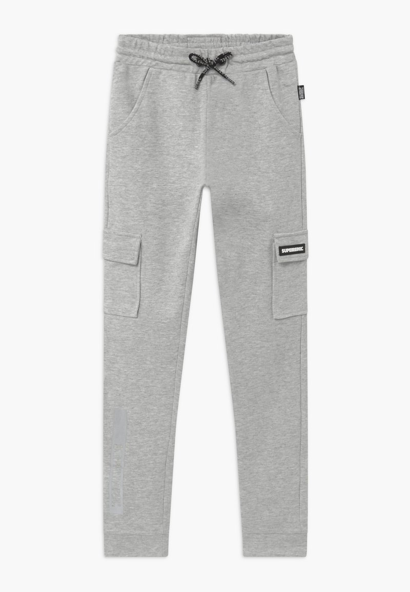 SuperRebel - ACTIVE HEAVY INTERLOCK  - Pantalon de survêtement - grey