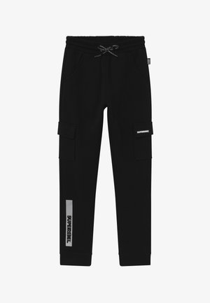 ACTIVE HEAVY INTERLOCK  - Tracksuit bottoms - black